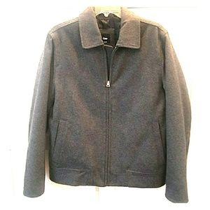 Gap Men's Charcoal Bomber Wool Coat